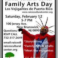Arts and Family Day: Los Vejigantes de Puerto Rico Program Flyer
