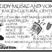 Raíces 2011 Music Lesson Flyer