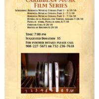 Raíces Caribbean Film Series Flyer