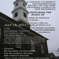 """""""A Spiritual Crossroads"""" Concert Flyer"""