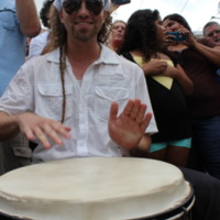 Bomba drummer