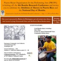 Resistance, Freedom, Bomba Event Flyer