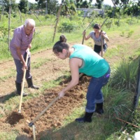 Turning Soil at Finca Mi Casa