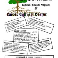 Raíces Program Flyer