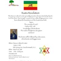 Rasta Revelation Program Flyer