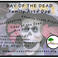 Day of the Dead Family Arts Day Flyer